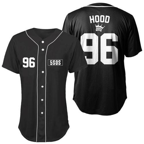 5 Seconds of Summer: Hood Baseball Jersey Small