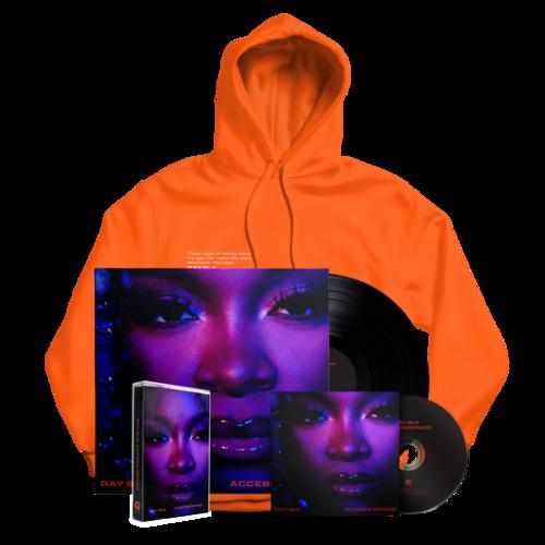 RAY BLK: Access Denied: Orange Hoodie, Signed CD, Vinyl + Cassette