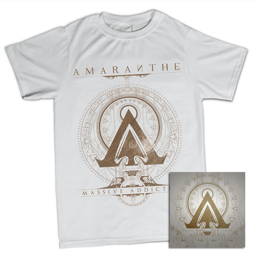 Amaranthe: Massive Addictive White Tee & CD Bundle