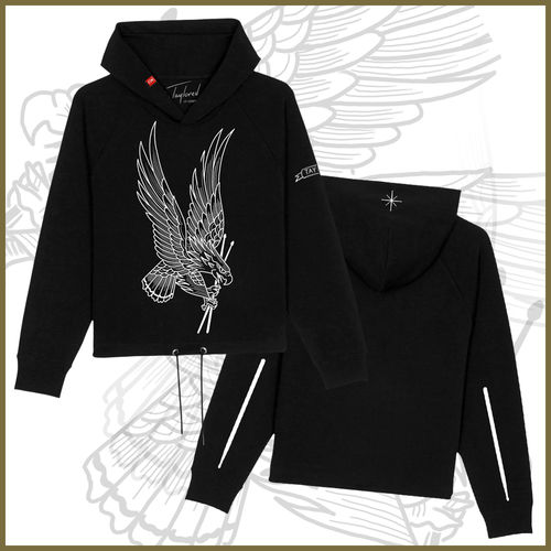 Roger Taylor: 'Taylored' Freedom Eagle Cropped Black