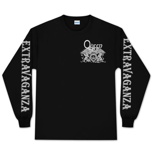 queen_extravaganza: Queen Extravaganza Crest Long Sleeve T-Shirt - X-Large