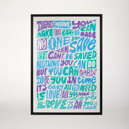 Abbey Road Studios: Framed All You Need Is Love Poster