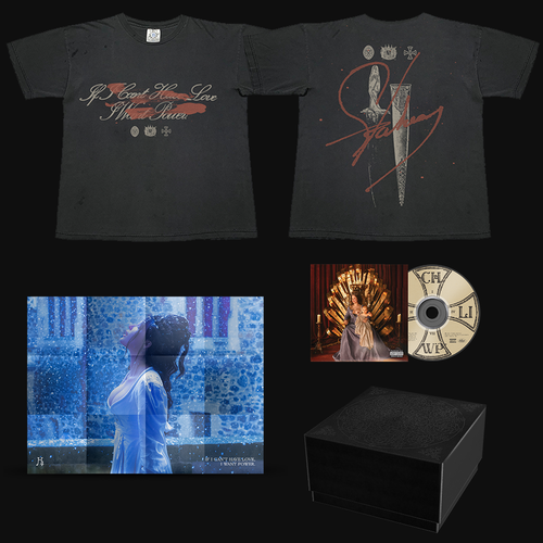 Halsey: If I Can't Have Love, I Want Power- Dagger Black T-Shirt & CD Box Set
