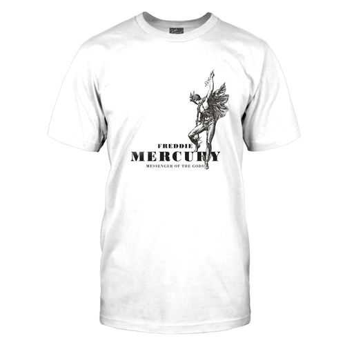 Freddie Mercury: Messenger Of The Gods White T-Shirt - X-Large