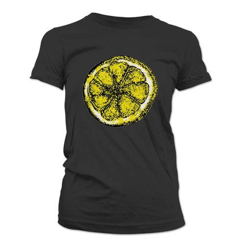 The Stone Roses: Lemon Design Womens Black T-Shirt