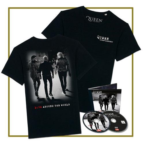 Queen & Adam Lambert: CD/DVD & T-Shirt
