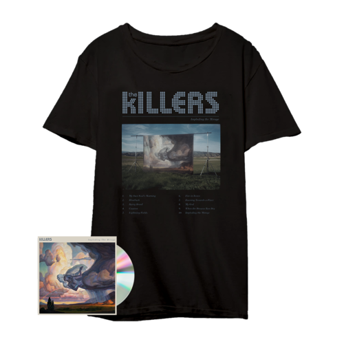 The Killers: ITM Tracklist Tee Black + CD