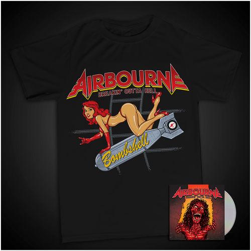 Airbourne: Bombshell T-Shirt & Ltd Edtn CD