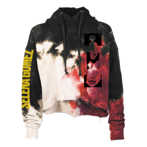 Selena Gomez : Lose You To Love Me Tie Dye Crop PO Hoodie