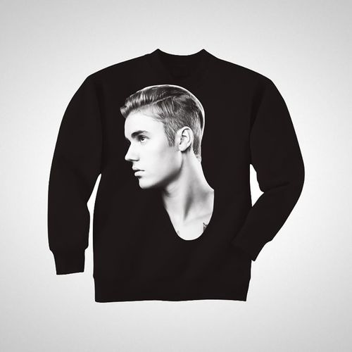 Justin Bieber: JB Profile Crewneck Black - X-Small