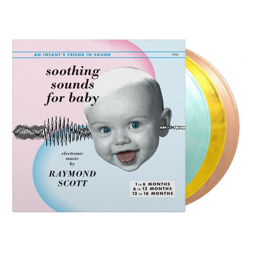 Raymond Scott: Soothing Sounds for Baby: Limited Edition Orange, Yellow & Light Blue Marbled Vinyl