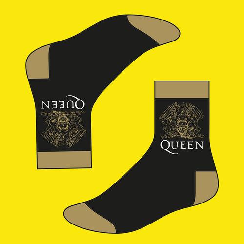 Queen: Queen Mens Gold Crest Socks