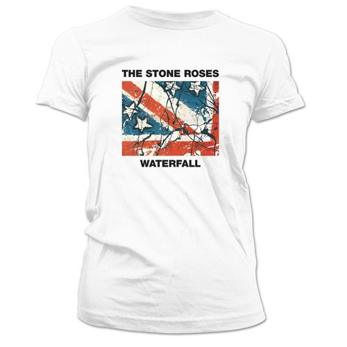The Stone Roses: Waterfall Womens White T-Shirt