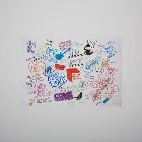 Abbey Road Studios: The Beatles Graffiti Tea Towel