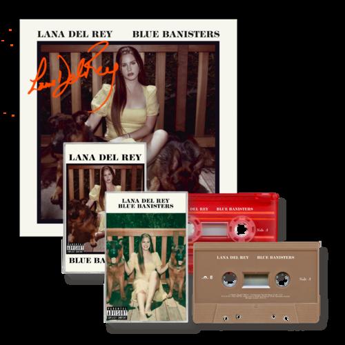 Lana Del Rey: BLUE BANISTERS CASSETTE BUNDLE (SIGNED)