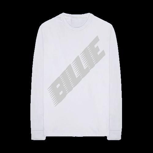 Billie Eilish: Racer Logo White Longsleeve Tee