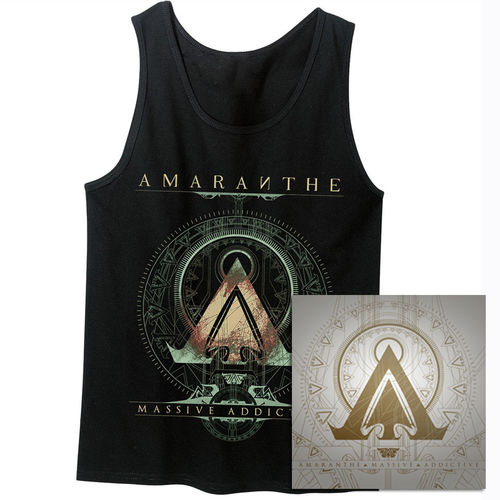 Amaranthe: Massive Addictive Black Tank & Double Vinyl Bundle