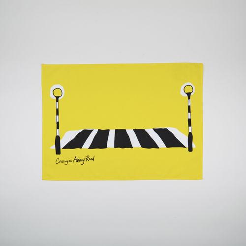 Abbey Road Studios: Abbey Road Crossing Tea Towel Yellow