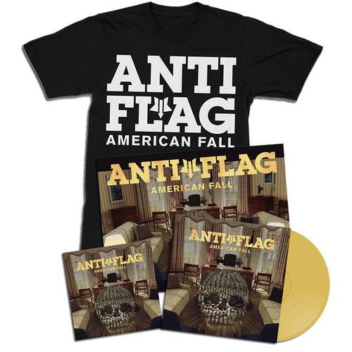 Anti-Flag: American Fall Gold Vinyl, CD, Poster & T-Shirt Bundle