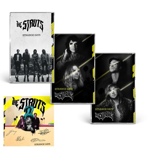 The Struts: STRANGE DAYS CASSETTE TRIO & SIGNED ART CARD