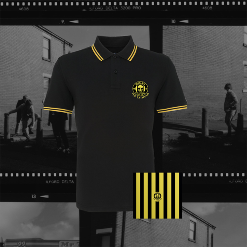The Lathums: The Lathums x Wigan Athletic: Black Polo Shirt + CD
