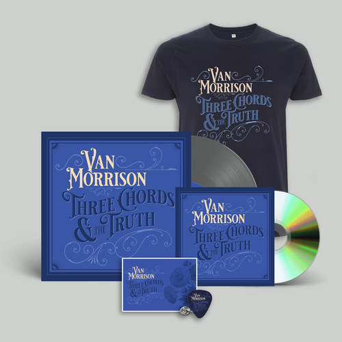 Van Morrison: CD + Vinyl + T-Shirt + Pin + Artcard