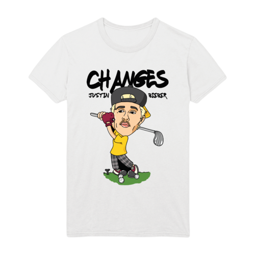 Justin Bieber: CHANGES GOLF DOODLE T-SHIRT
