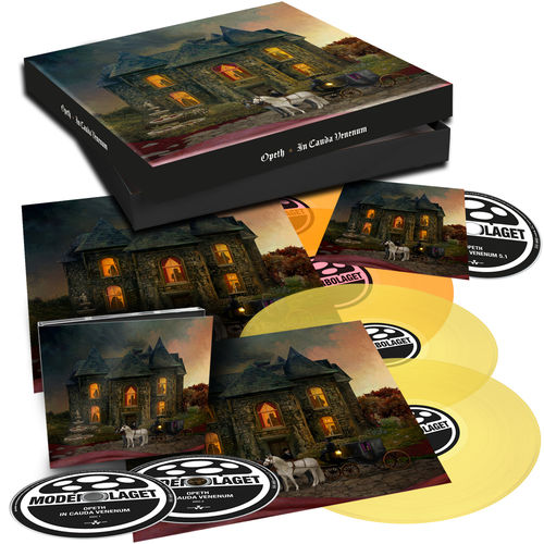 Opeth: In Cauda Venenum: Limited Edition Translucent Yellow + Orange 4LP, 2CD + Blu-Ray Box Set