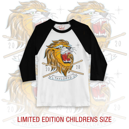 Roger Taylor: Taylored 2020 Lion Childrens Black Baseball Shirt