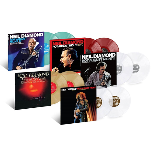Neil Diamond: Hot August Night / Love At Greek / All Time Greatest: Exclusive Colour Vinyl Bundle