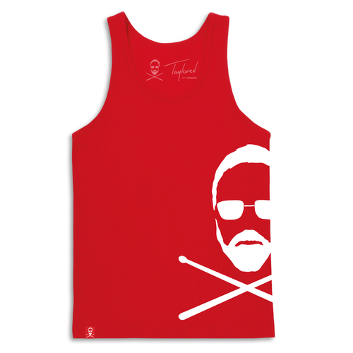 Roger Taylor: 'Taylored' Mens Side print vest Red