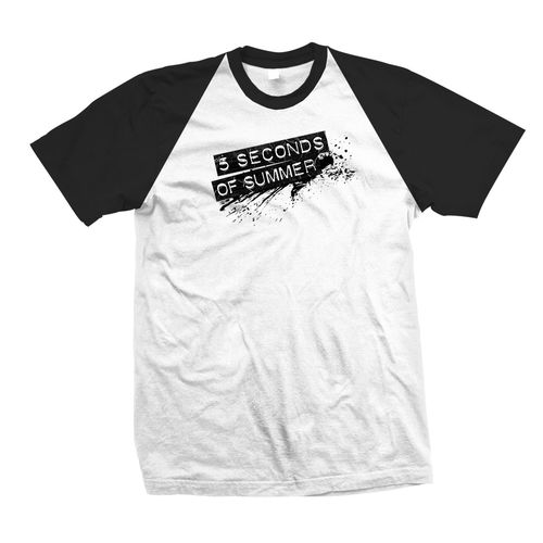 5 Seconds of Summer: Splash Logo Medium Raglan