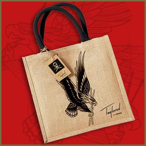 Roger Taylor: 'Taylored' Freedom Eagle Jute Bag