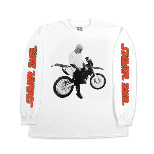Justin Bieber: Dirt Bike White Long Sleeve Tee