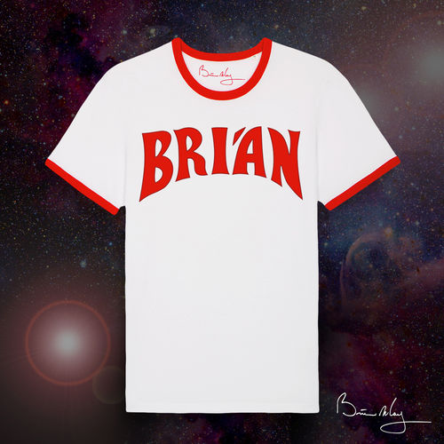 Brian May: 'Brian' Flash Ringer T-Shirt