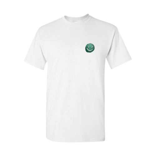 Mac DeMarco: White Smiley Face Logo T-Shirt - S