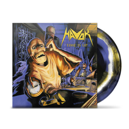 Havok: Time Is Up Black/Blue white & yellow swirl vinyl