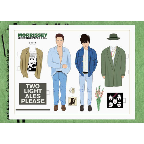 "Morrissey: Morrissey ""Miserable"" Paper Doll Set"