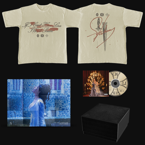 Halsey: If I Can't Have Love, I Want Power- Dagger Tan T-Shirt & CD Box Set