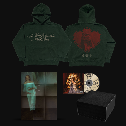 Halsey: If I Can't Have Love, I Want Power- Heart Crest Hoodie & CD Box Set