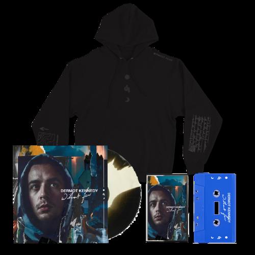 Dermot Kennedy: Without Fear Blue Cassette, Marbled LP + Black on Black Hoodie