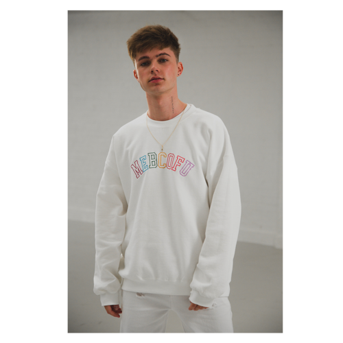 HRVY: WHITE MEBCOFU SWEAT