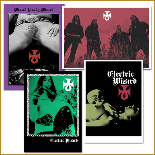 Electric Wizard: 4 x A3 Poster Set