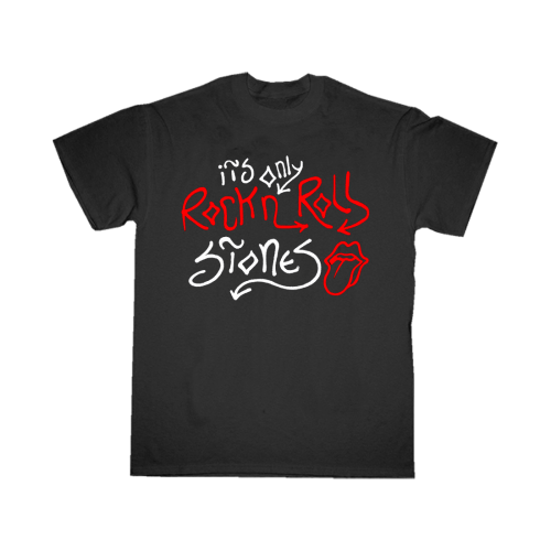 The Rolling Stones: It's Only Rock n Roll Black T-shirt