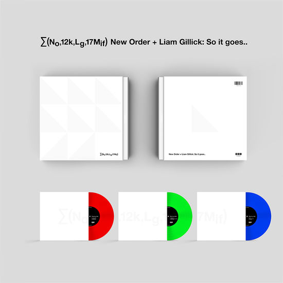 New Order: ∑(No,12k,Lg,17Mif) New Order + Liam Gillick: So it goes..: Limited Edition Transparent Coloured Vinyl Box