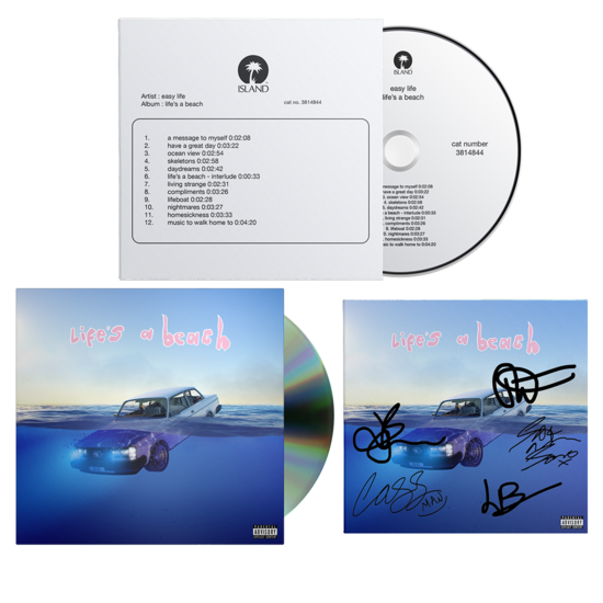 Easy Life: life's a beach: Test Pressing CD, Standard CD & Signed Artcard