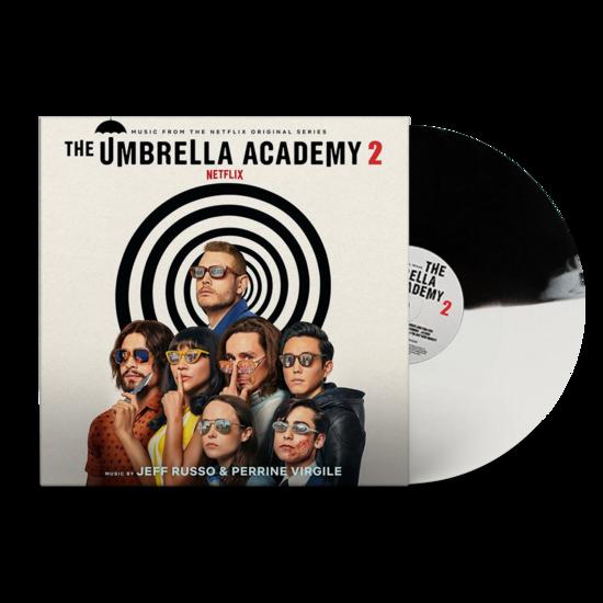 Jeff Russo: The Umbrella Academy 2: Exclusive Black + White Split Colour Vinyl LP