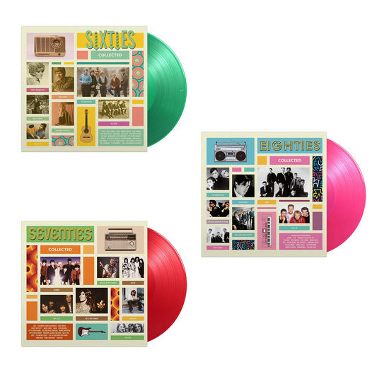 Various Artists: Sixties, Seventies & Eighties Collected: Limited Edition 6LP Colour Vinyl Bundle