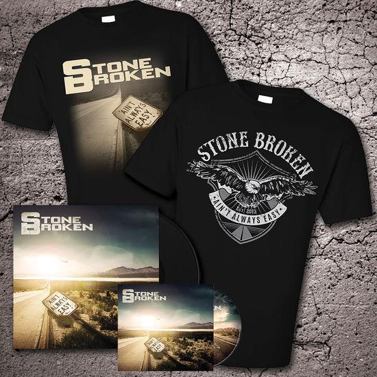 Stone Broken: Deluxe Version Bonus Tracks Version CD, Vinyl & Two T-Shirt Bundle