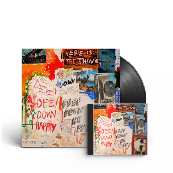 Sports Team: Deep Down Happy: Signed CD + Vinyl